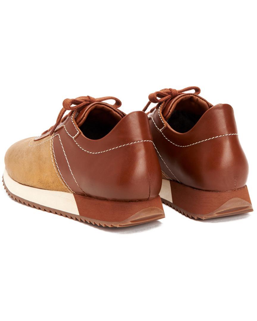 Aquatalia Zala Waterproof Leather & Suede Sneaker in Brown