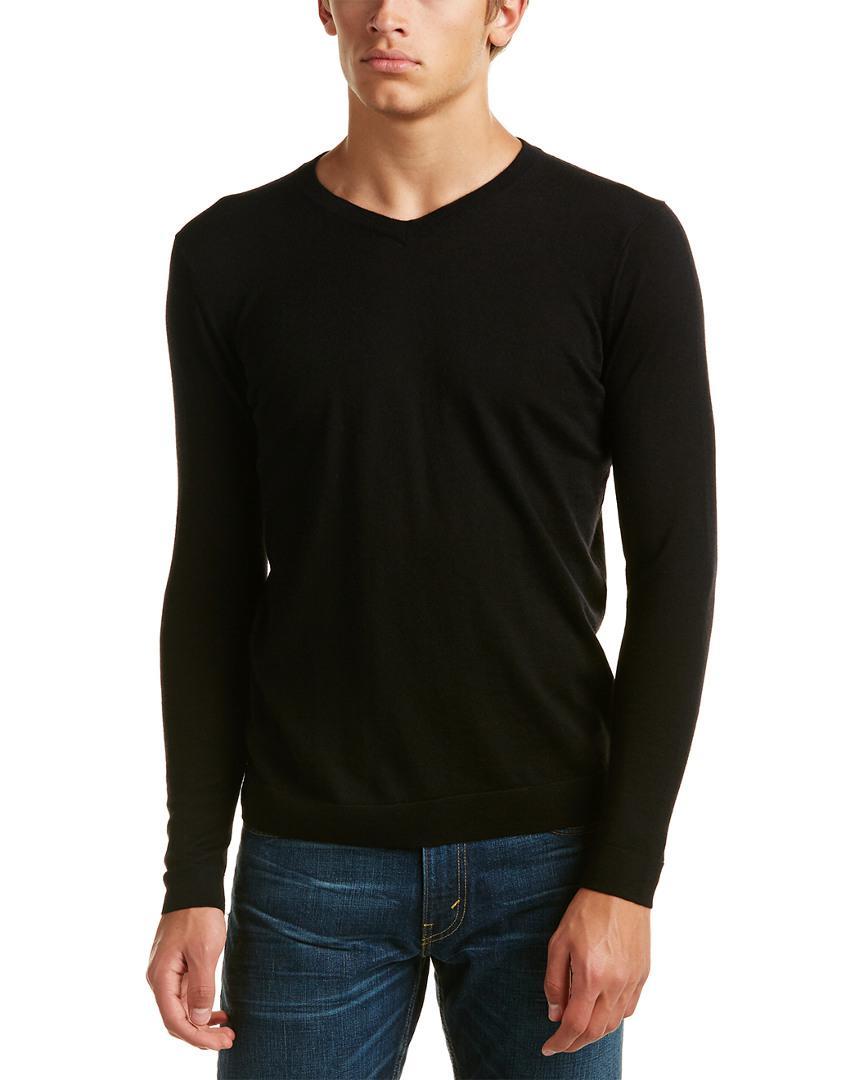 Kinross cashmere Forte V-neck Cashmere Sweater in Black for Men ...
