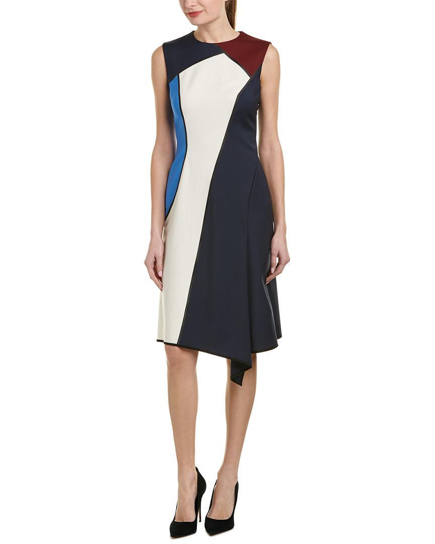 bf9e61f6c736f Escada Wool-blend A-line Dress in Blue - Save 23.737373737373744% - Lyst
