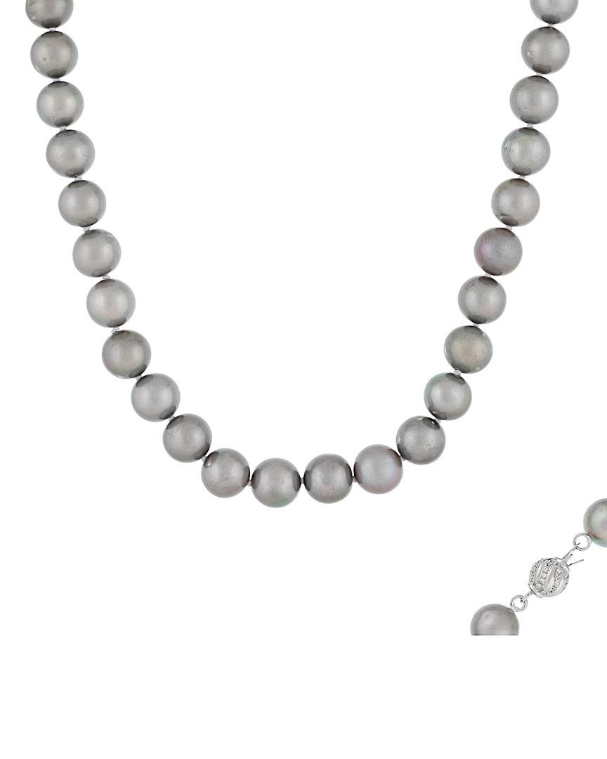 white or black pearl 925 freshwater pearl lucky necklace