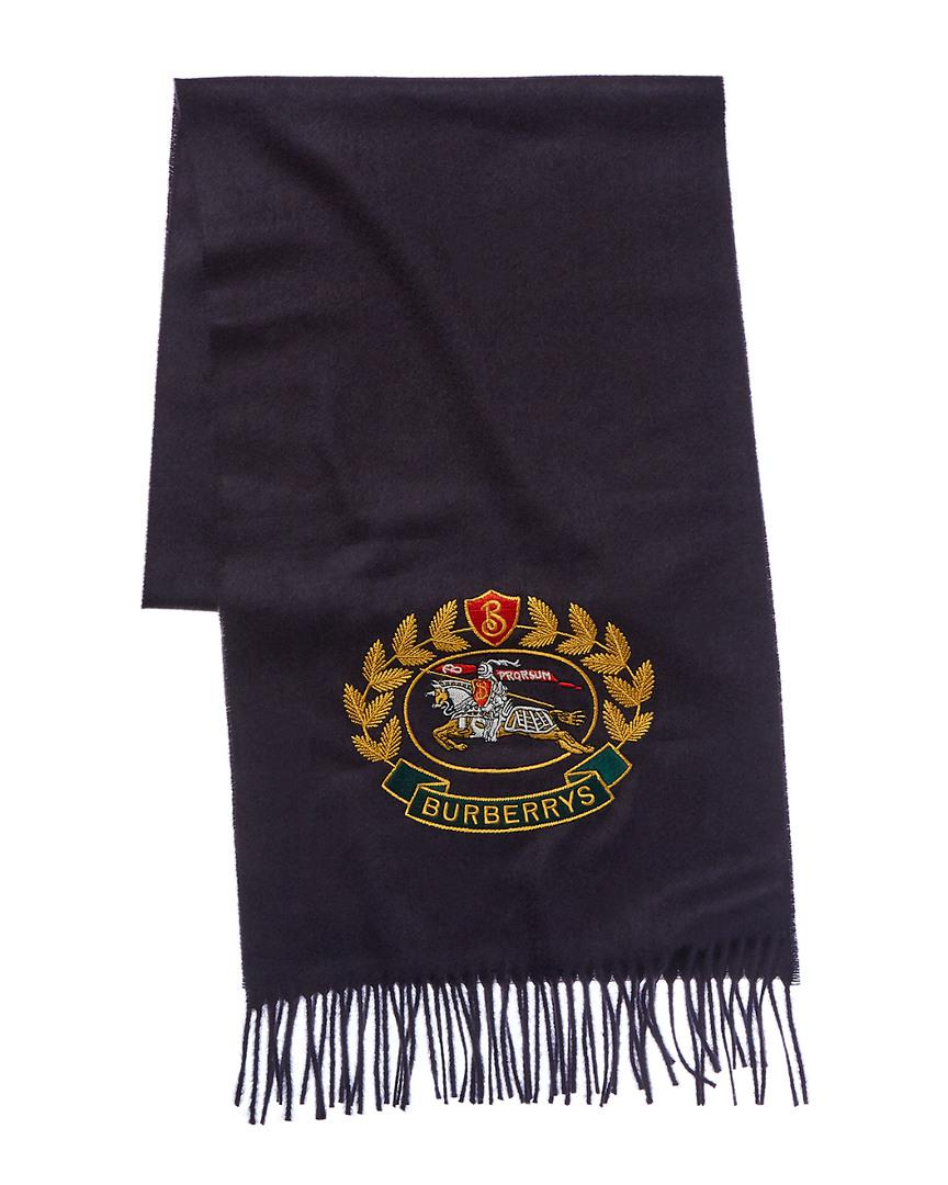 Lyst - Burberry The Classic Cashmere Scarf With Archive Logo in Blue ... 490fda4a1d