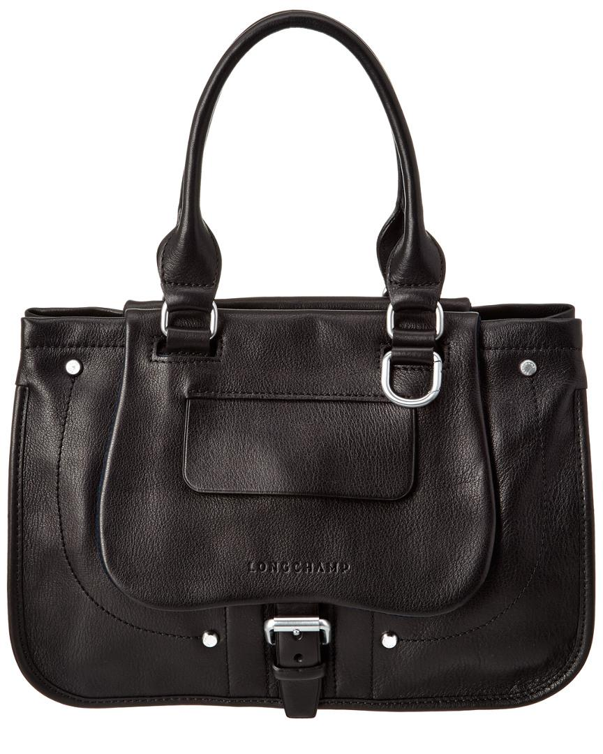 1ebf90e4a9d Lyst - Longchamp Balzane Leather Shoulder Bag in Black