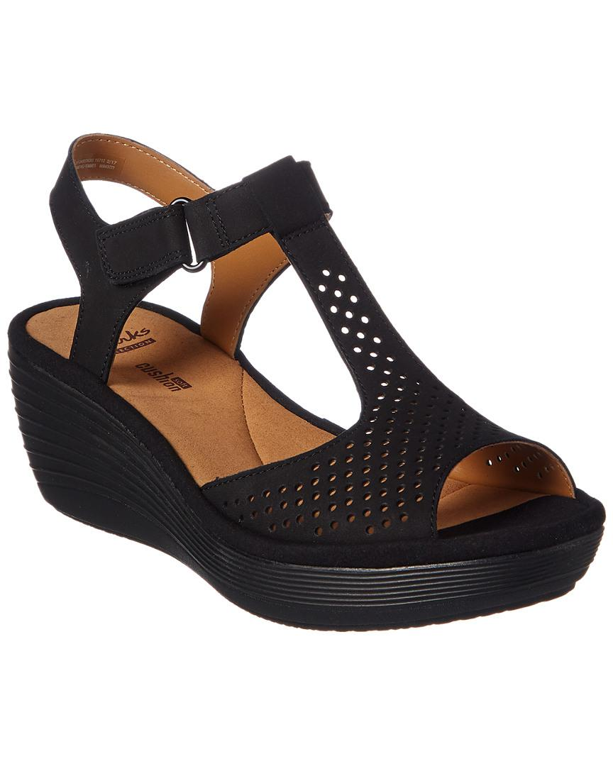 b03d7bcb Clarks Collection Reedly Waylin Wedge Sandal in Black - Lyst