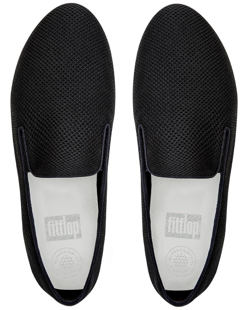 Fitflop Leather Uberknit Slip-on in Black for Men