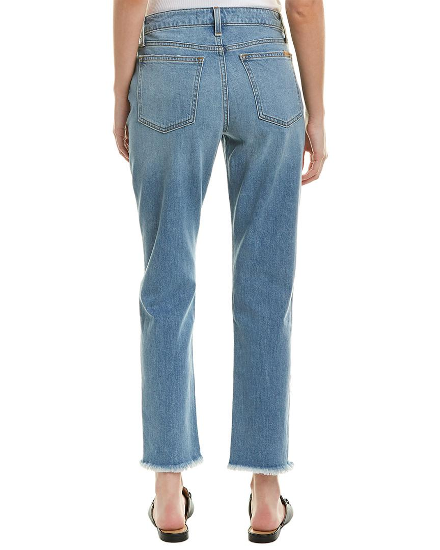 Joe's Jeans Cotton The Kass Danae Mid-rise Slim Straight Ankle Cut in Blue