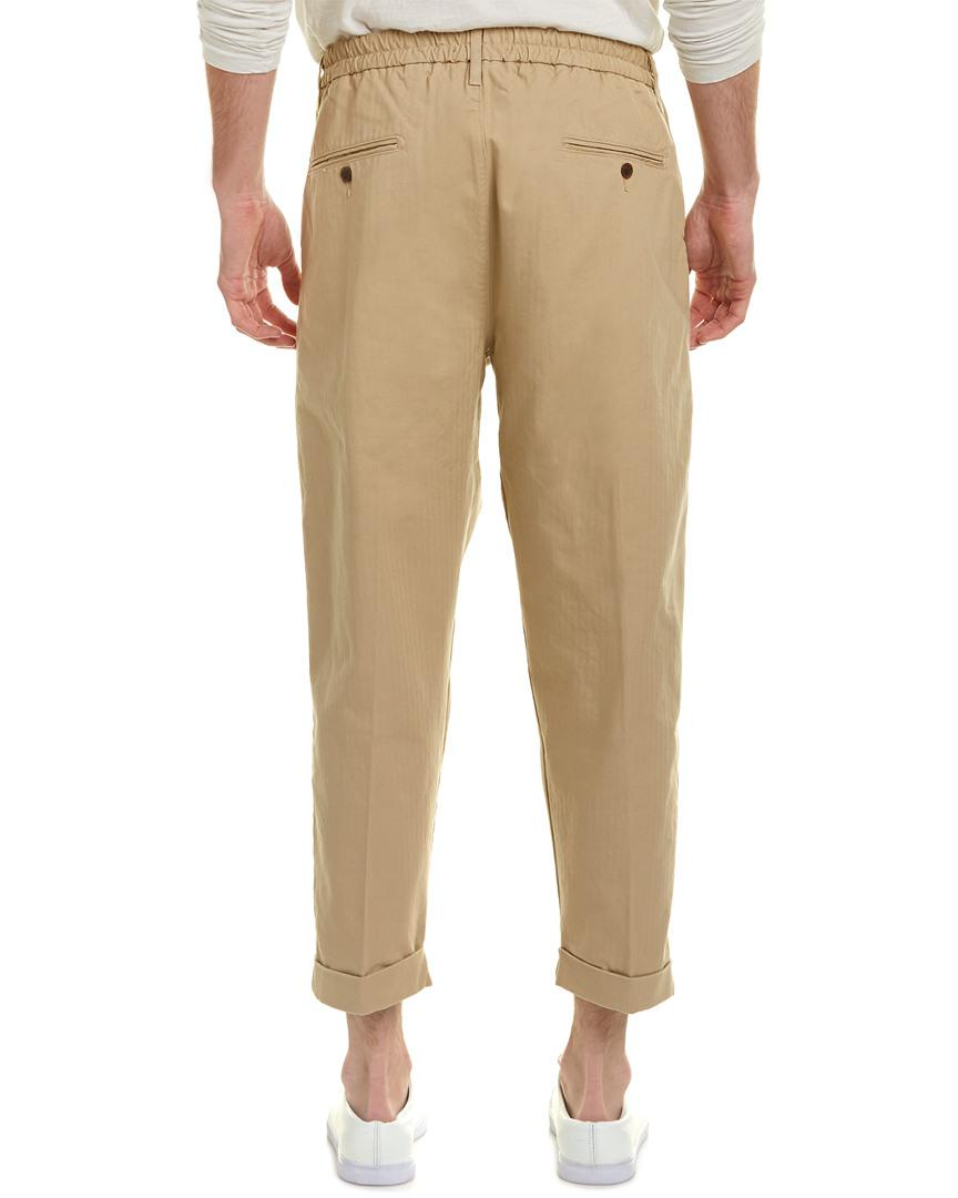 online retailer good texture wholesale outlet Made & Crafted Travertine Pleated Trouser
