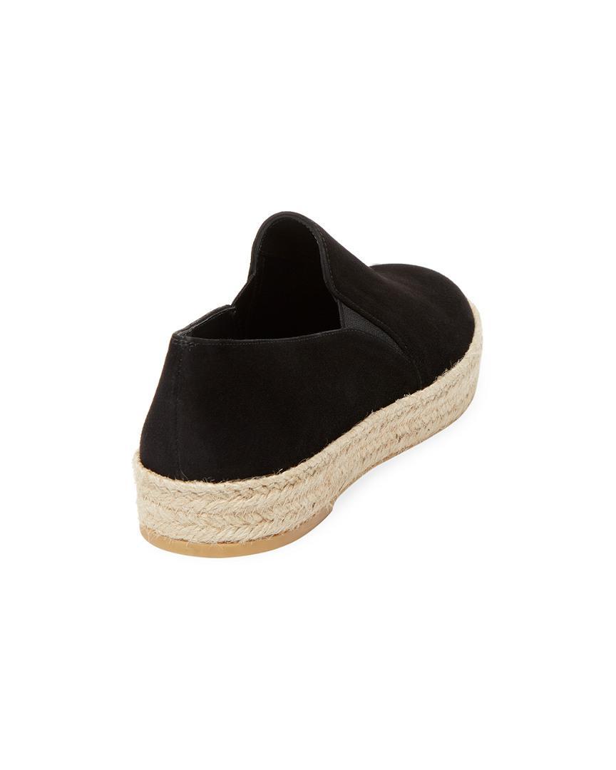 Stuart Weitzman Nugal Leather Slip-on Sneaker in Black