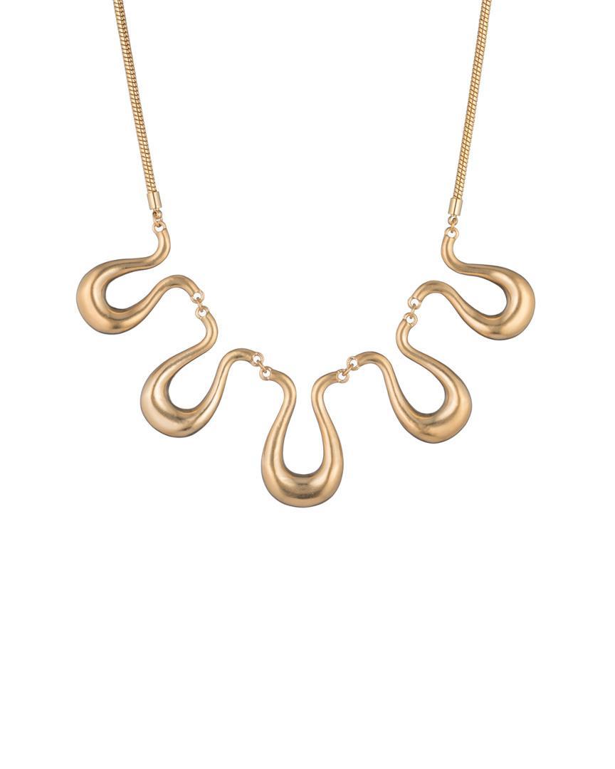 Trina Turk Gold Rush Wavy Necklace in Metallic