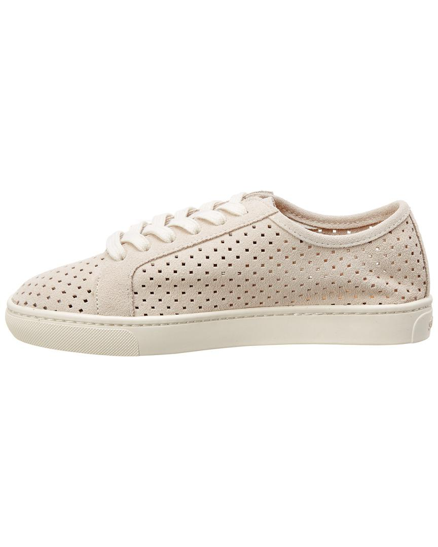 Soludos Perforated Suede Sneaker in Beige (Natural)