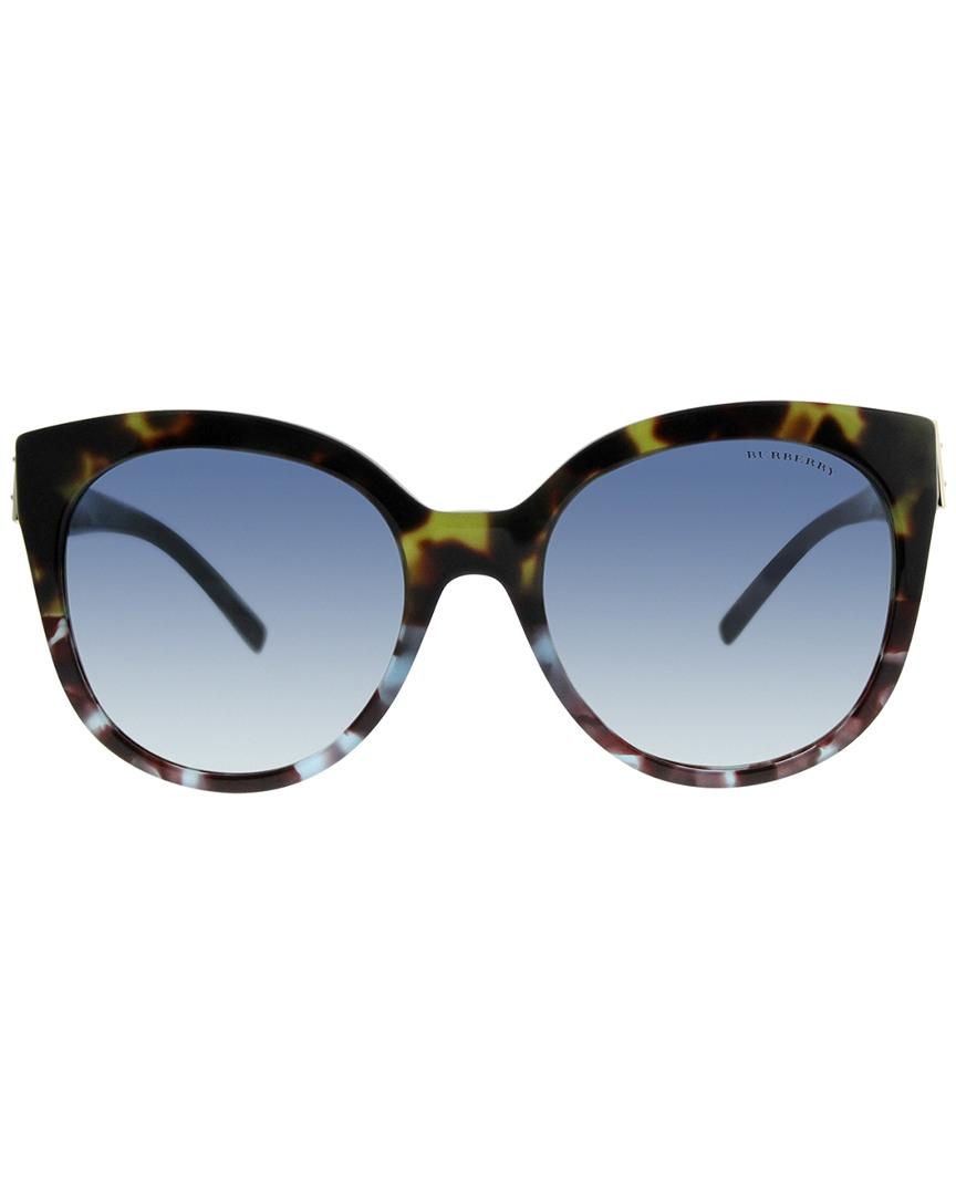 f0733ff6eed Lyst - Burberry 55mm Sunglasses in Blue