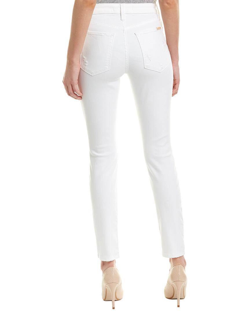 Joe's Jeans Cotton The Charlie Gloriya High-rise Skinny Ankle Cut in White