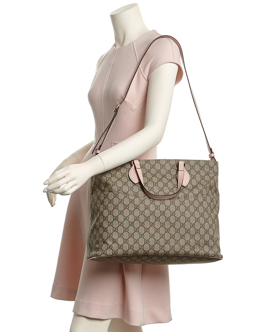 a095ea5e6cdd Gucci Soft Gg Supreme Diaper Bag in Pink - Lyst
