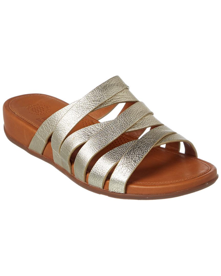 0e2994ccc642 Fitflop Lumy Leather Slide Sandal in Metallic - Lyst