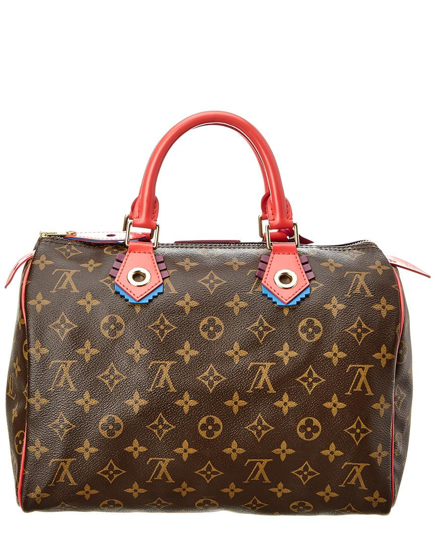 bf104dcd92aa Lyst - Louis Vuitton Limited Edition Pink Totem Monogram Canvas Speedy 30