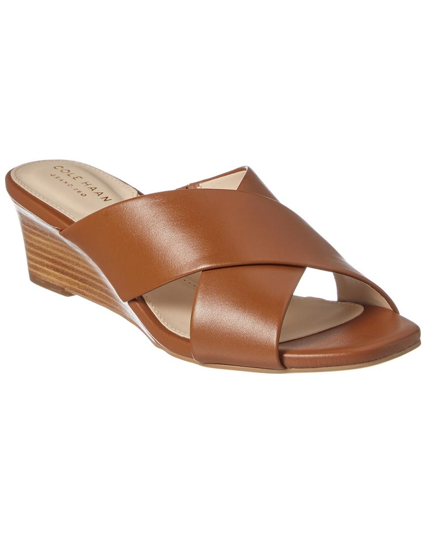 0d660c7b0dfb2 Cole Haan Adley Grand Wedge Sandal in Brown - Save 40% - Lyst