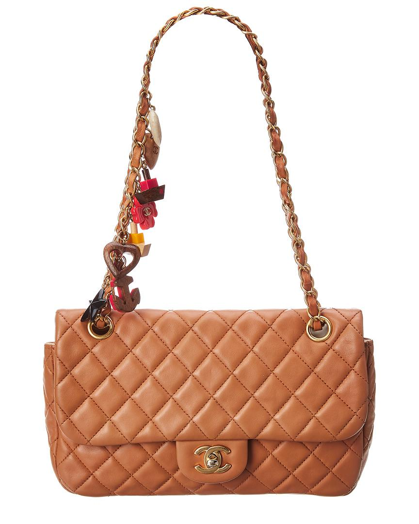 29d53b1912a8 Chanel Limited Edition Brown Quilted Lambskin Leather Medium ...