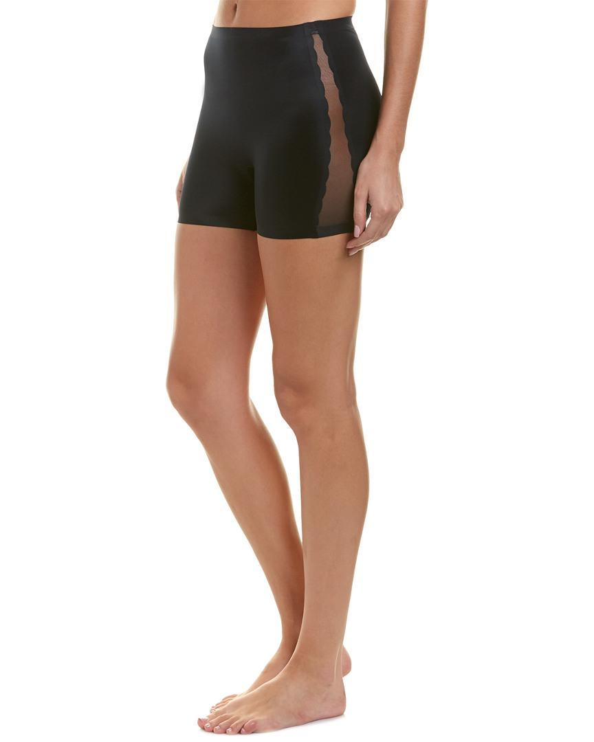 354f9a072a252 Lyst - Spanx   Red Hot Label Luxe   Lean Scalloped Girl Short in Black