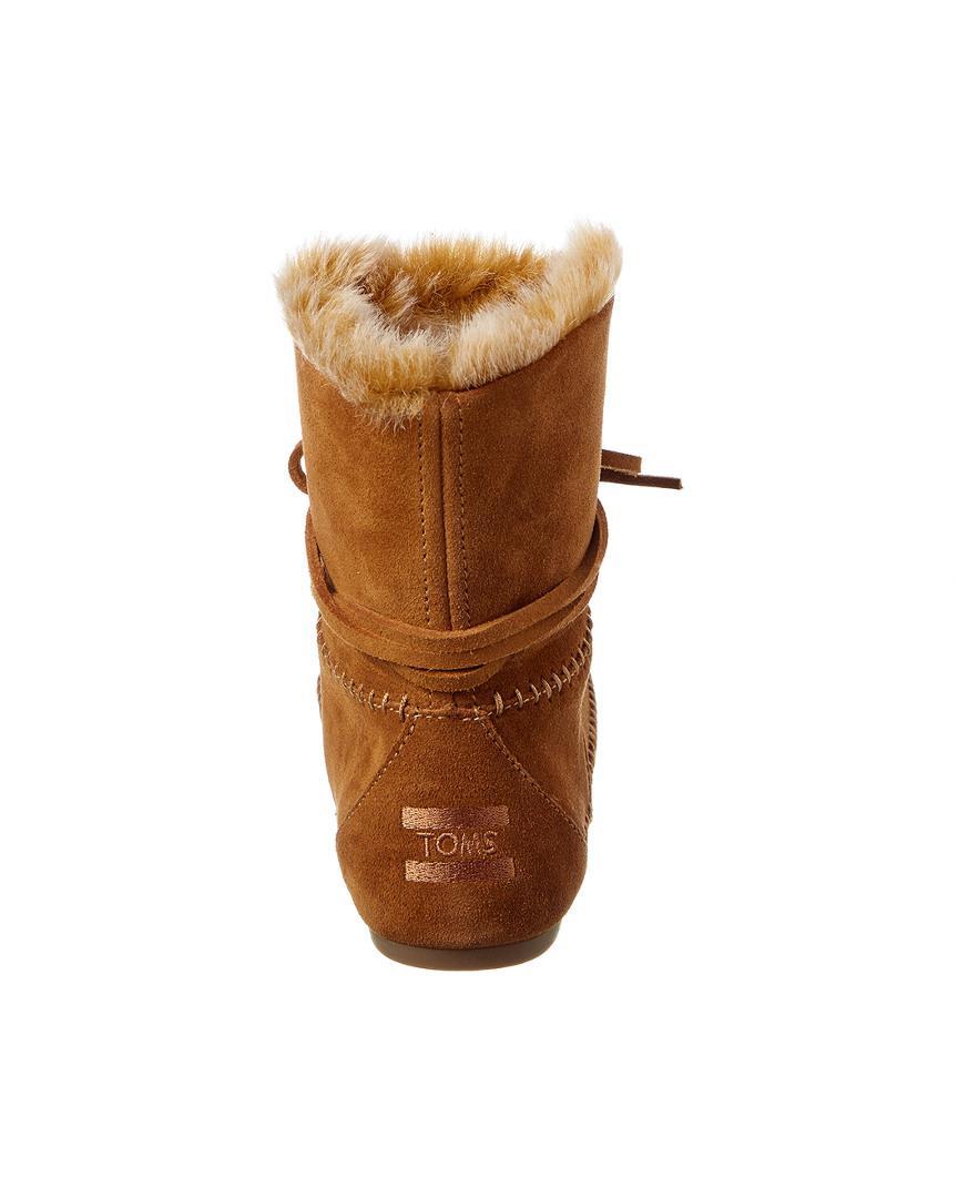 TOMS Women's Zahara Suede Boot in Brown