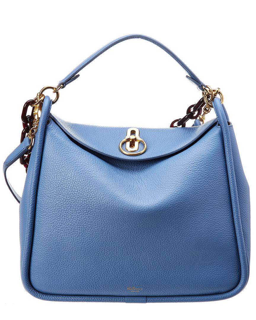 c39aef3d6bdb Mulberry Leighton Small Leather Shoulder Bag in Blue - Save ...