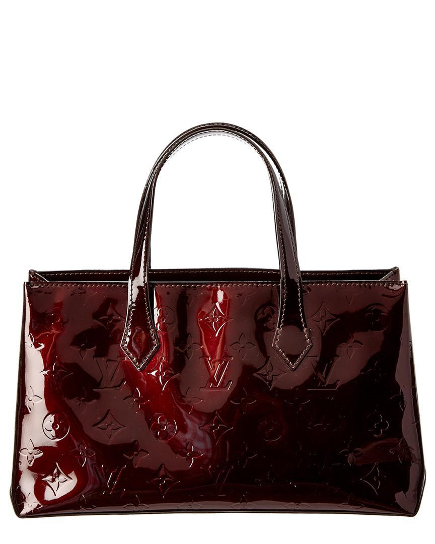 49c9127ed63e Louis Vuitton - Multicolor Amarante Monogram Vernis Leather Wilshire Pm -  Lyst