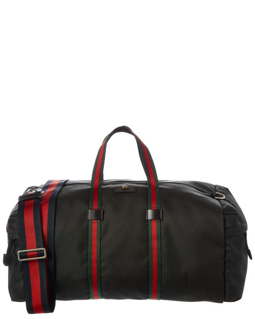 ca4d7a06b3a603 Lyst - Gucci Technical Canvas Duffel Bag in Black for Men