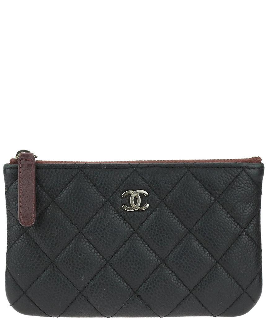 f5dcd463b08b Lyst - Chanel Black Quilted Caviar Leather Mini O-case in Black
