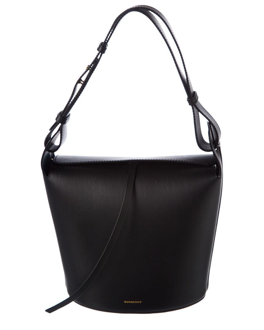 Burberry Medium Leather Bucket Bag in Black - Lyst d3a1e48f49f8c