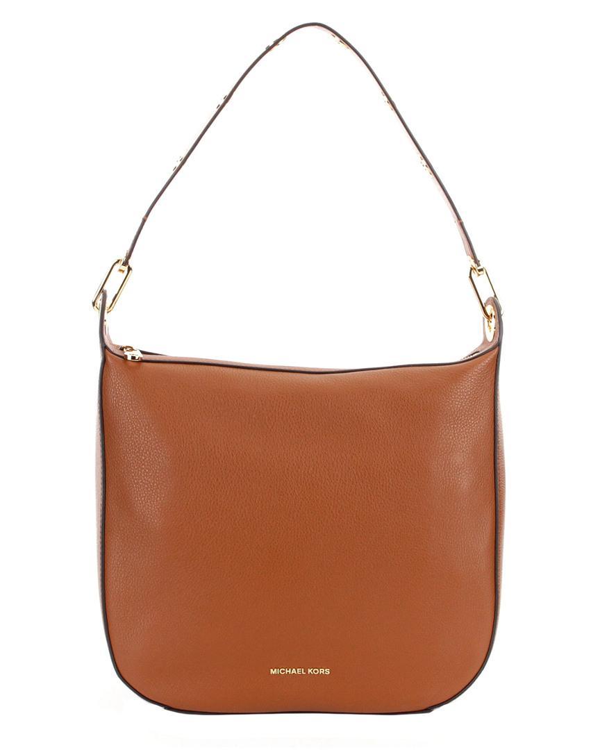 6689b33d97a64 MICHAEL Michael Kors. Women s Brown Raven Large Leather Shoulder Bag