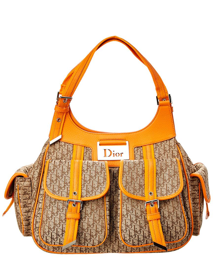 Dior - Orange Trotter Canvas Shoulder Bag - Lyst. View fullscreen 327b521e45795