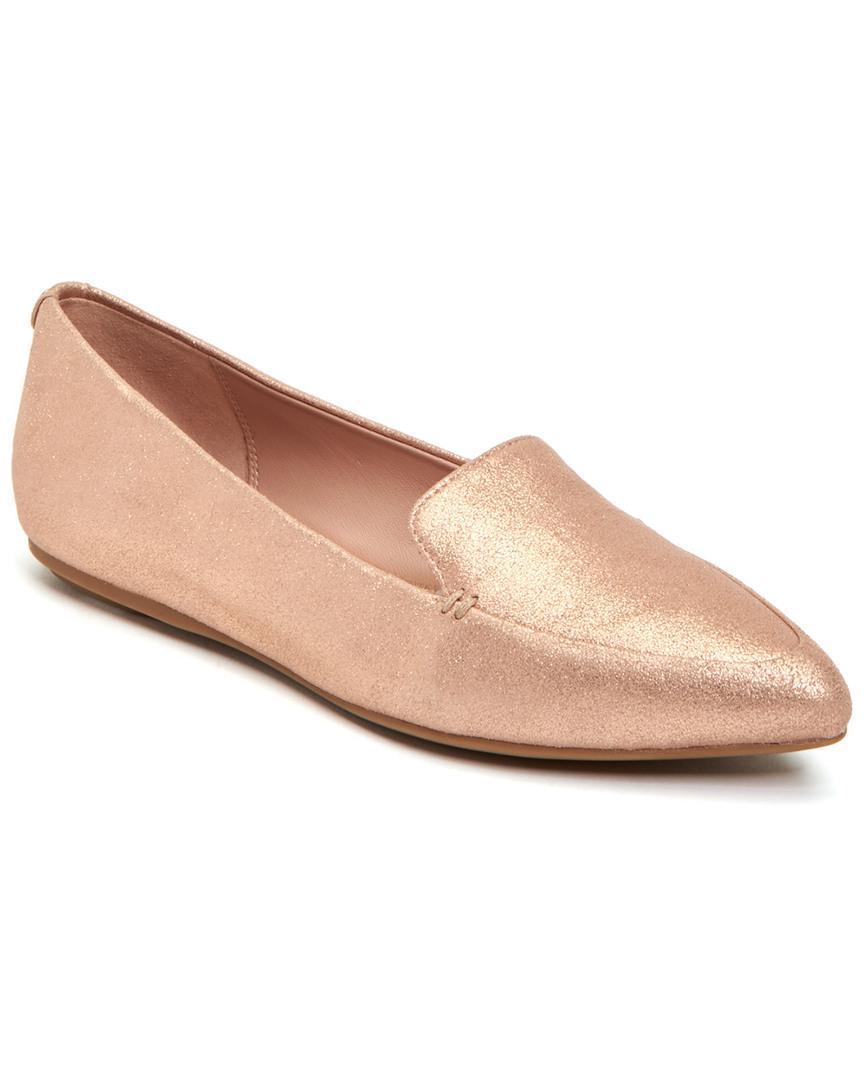 e488c2202cd Lyst - Taryn Rose Faye Powder Metallic Flat in Pink