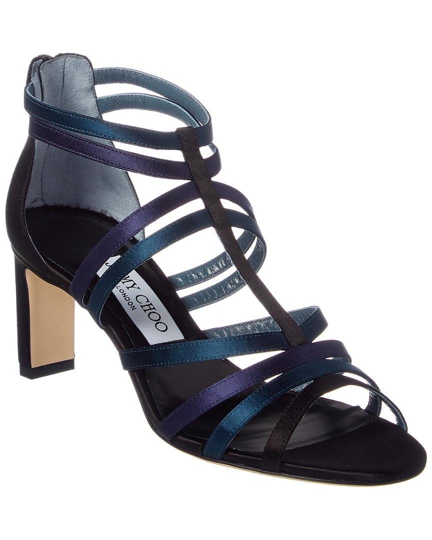 e24b01409675 Lyst - Jimmy Choo Selina 65 Satin Sandal in Blue - Save ...