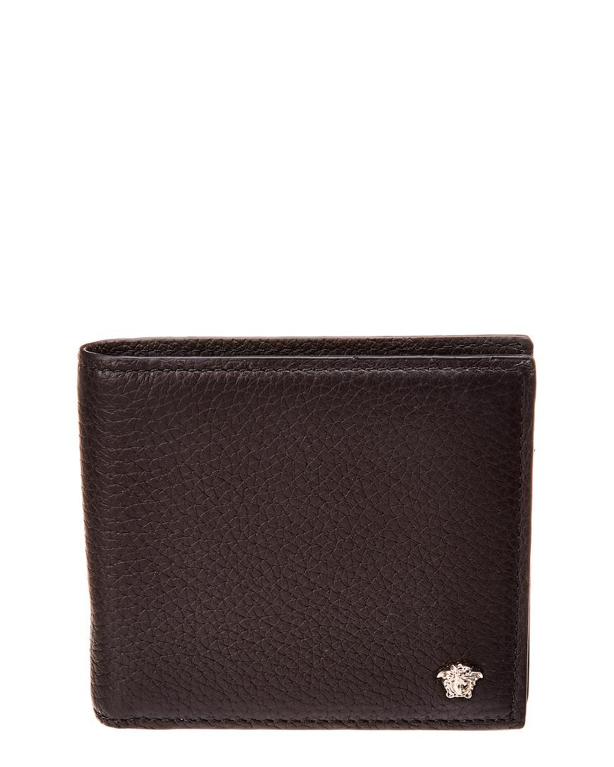 ... info for c21af 673c9 Versace. Mens Black Medusa Leather Bifold Wallet  ... 93f9c7a825