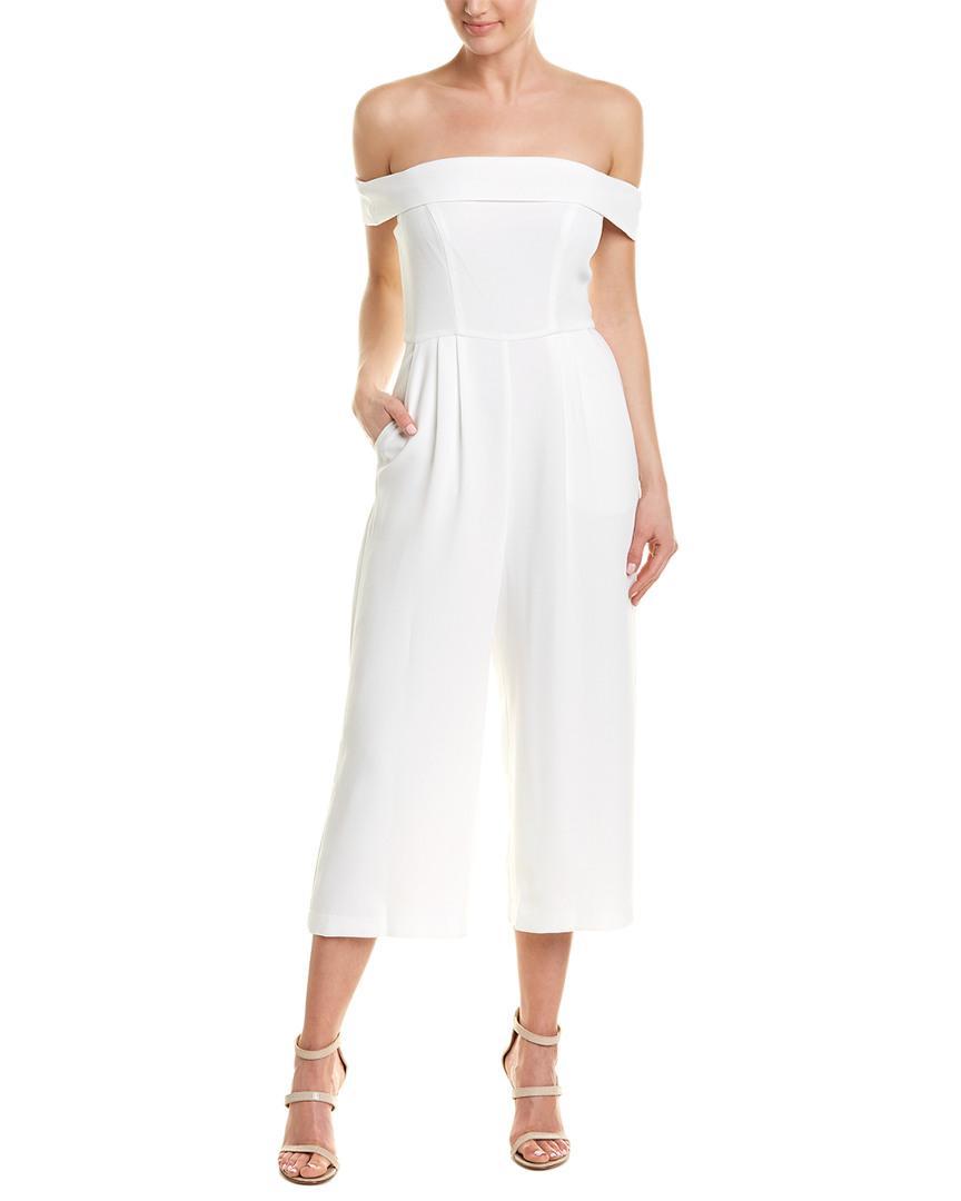 21d6483919 Lyst - BCBGeneration Off-the-shoulder Culotte Jumpsuit in White ...