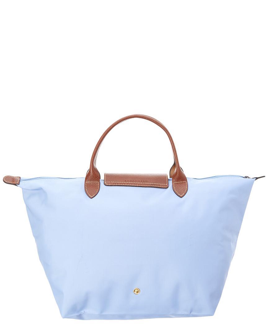 Longchamp Synthetic Le Pliage Medium Nylon Top Handle Tote in Blue