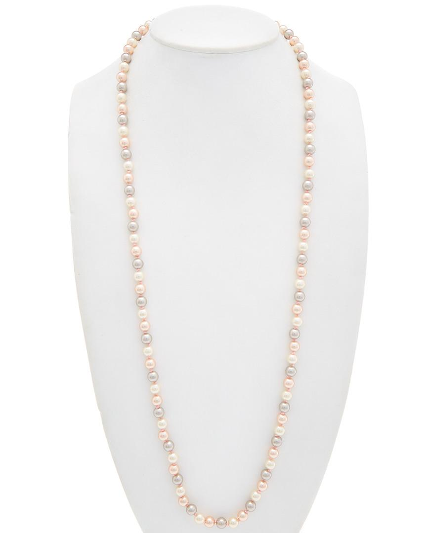 Carolee Pink Champagne Rope Necklace