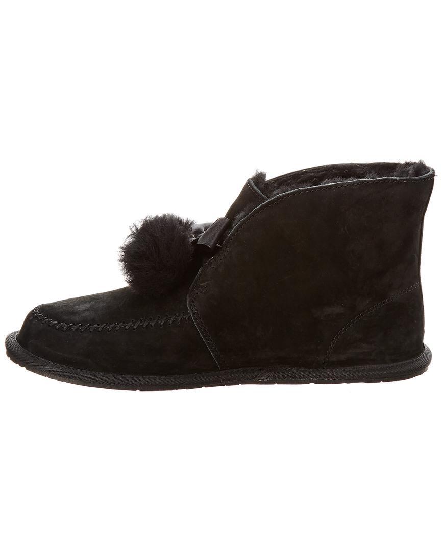 3709fd08b35 Ugg Black Women's Kallen Silkee Water-resistant Suede Slipper
