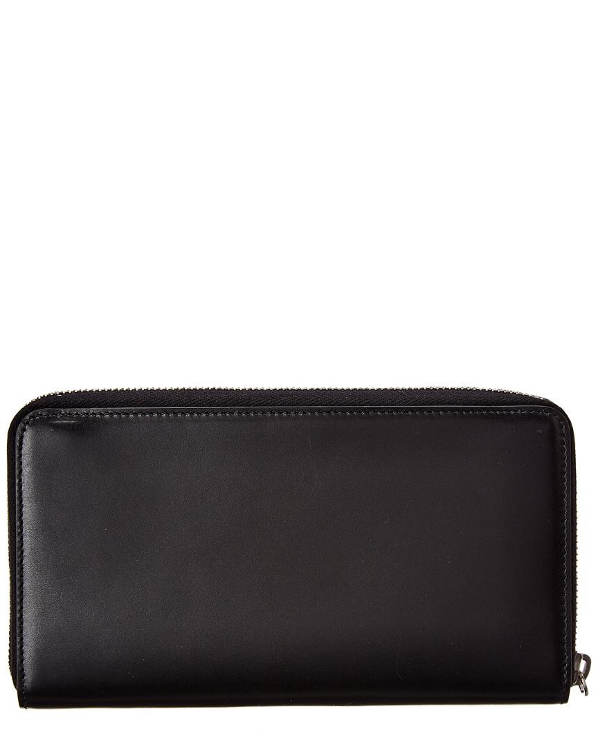c5fba69c08 Lyst - Saint Laurent Monogram Leather Zip Around Wallet in Black