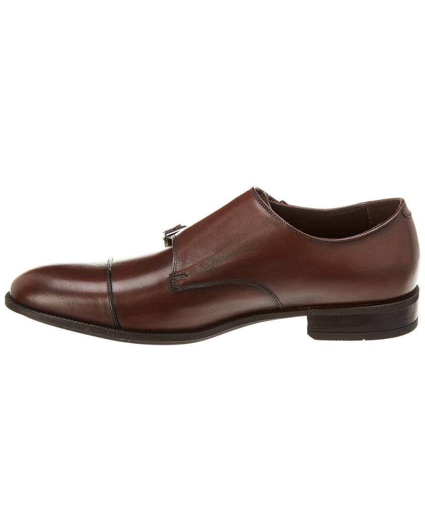 23d27bbb899 Lyst - Bruno Magli Ilario Leather Double Monk in Brown for Men - Save 1%