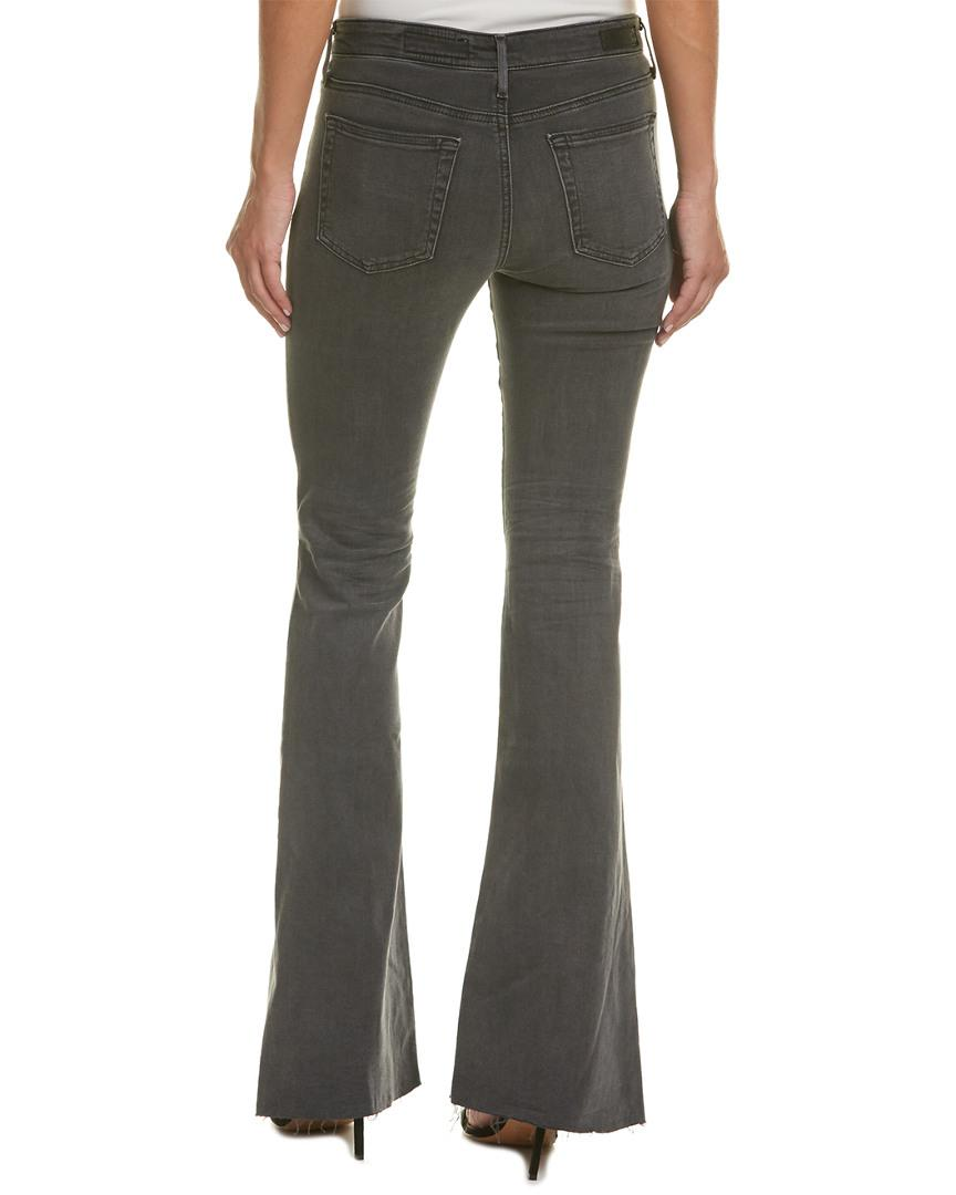 AG Jeans Cotton Janis 10 Years Well Worn Black High-rise Flare Leg