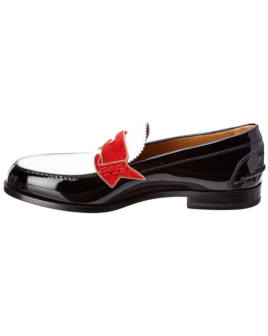 84dcb20f347 Christian Louboutin Monnono Patent Penny Loafer in Black for Men - Lyst