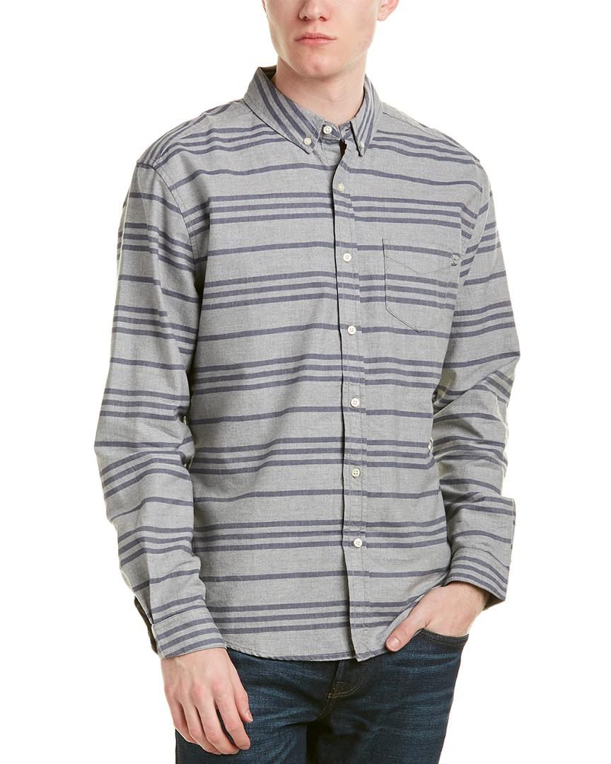 Lyst - Life After Denim Life after denim Academy Woven Shirt in Gray ... 8864bc092