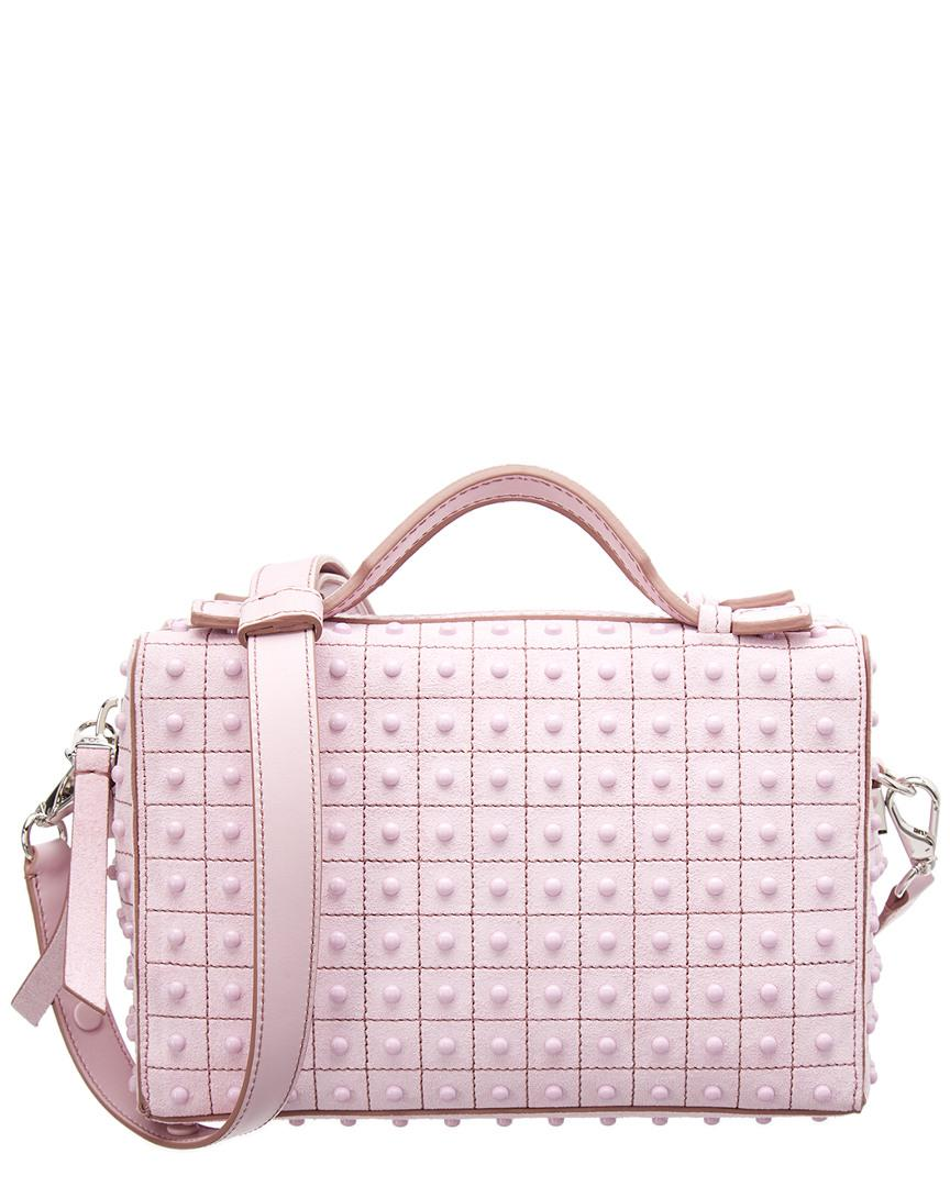 ded7e5f691dc Tod s Gommino Mini Studded Leather Satchel in Pink - Lyst