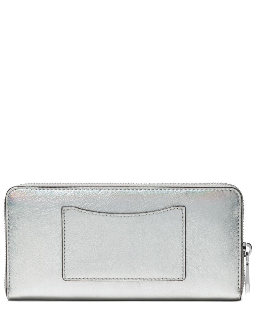 a1d1c80d7242 Michael Michael Kors Jet Set Iridescent Leather Continental Wallet in  Metallic - Lyst