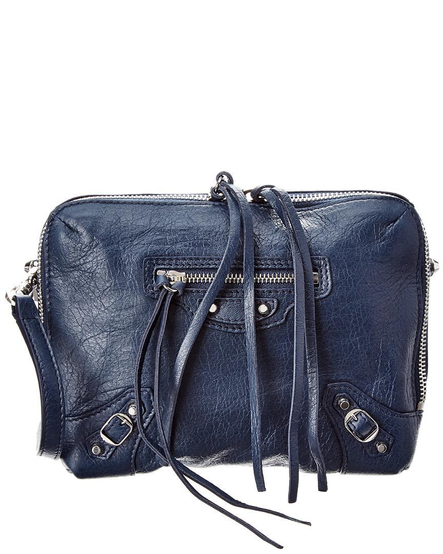 f617bd0c0 Balenciaga Classic Reporter Xs Leather Crossbody in Blue - Lyst