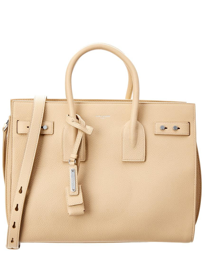 b2e0aafb46c8 Saint Laurent Small Sac De Jour Leather Tote in Brown - Save ...
