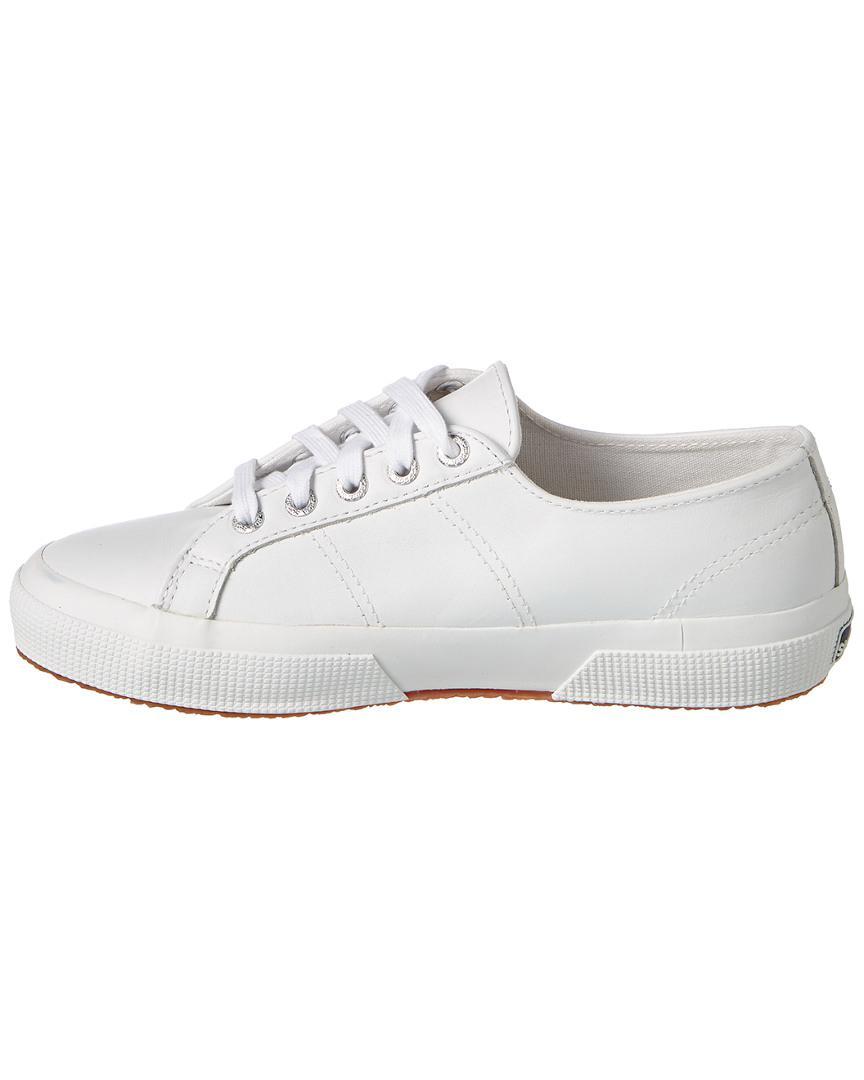 Superga Leather Sneaker in White