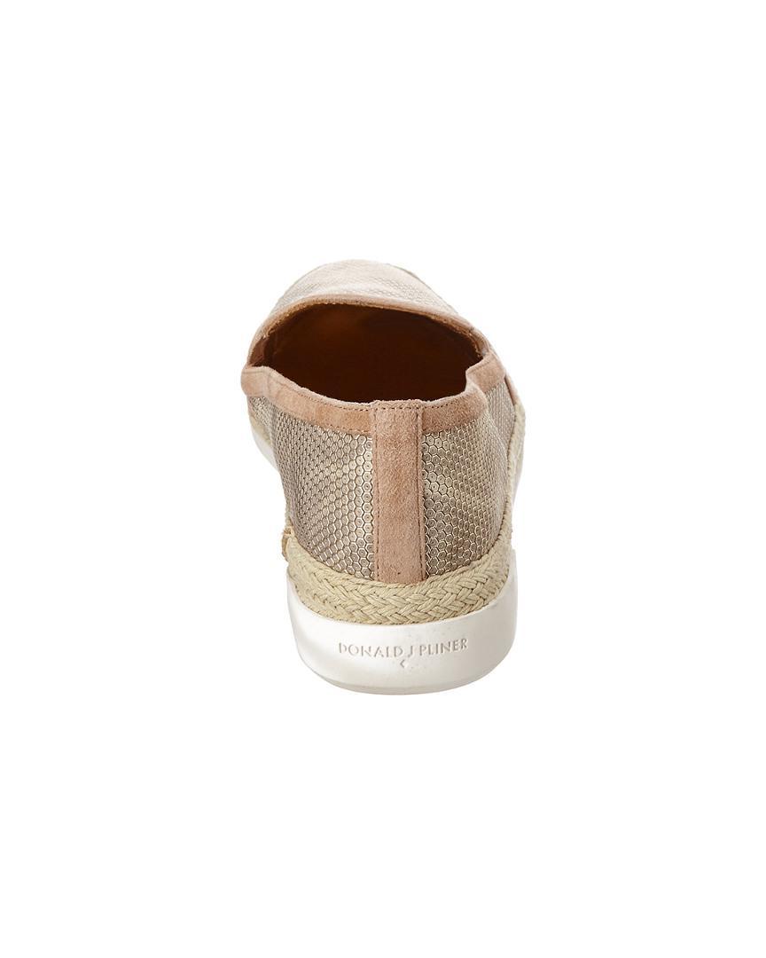 Donald J Pliner Donald J Pliner Pamela Suede Sneaker in Beige (Natural)