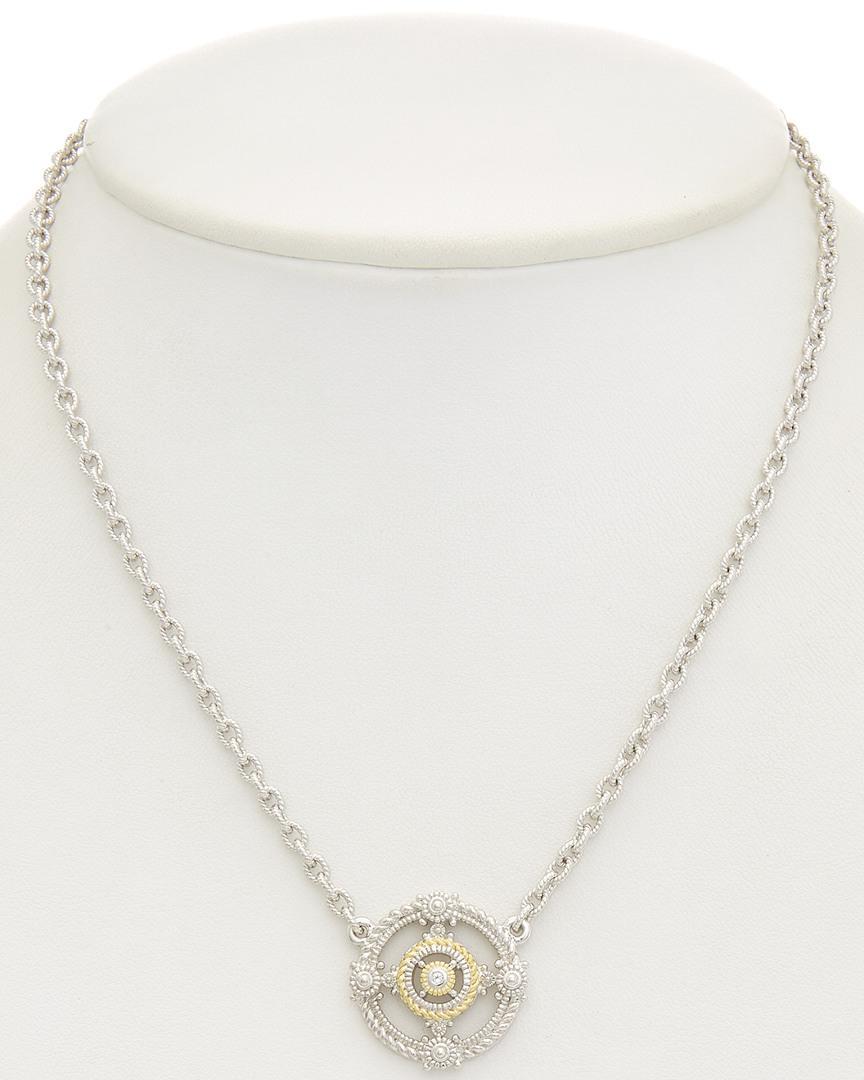 Judith Ripka 18k Over Silver White Topaz Necklace