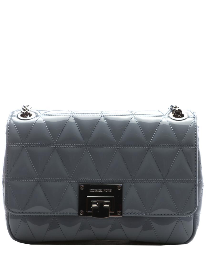 fb196586ba30 Michael Kors Vivianne Medium Leather Shoulder Bag in Blue - Lyst