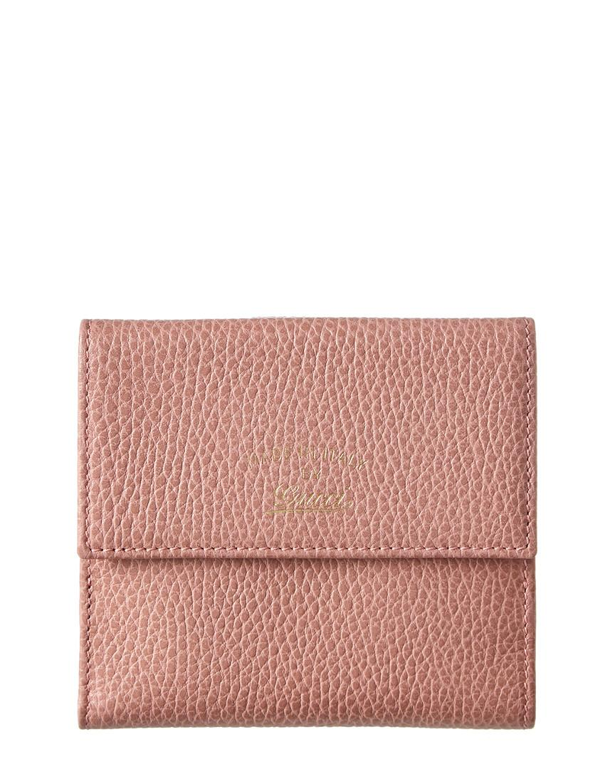 a38a1f572727 Lyst - Gucci Pink Leather Swing Wallet in Pink